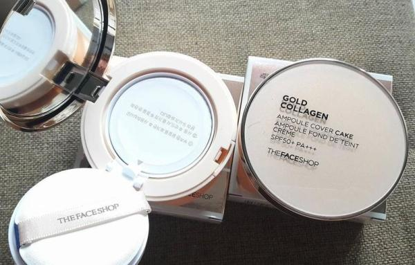 Phấn Gold Collagen của The Face Shop SPF 30+ PA+++ Hàn Quốc tốt nhất