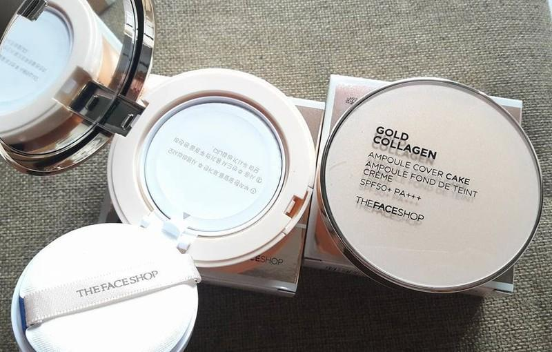 Phấn Gold Collagen của The Face Shop SPF 30+ PA+++ Hàn Quốc