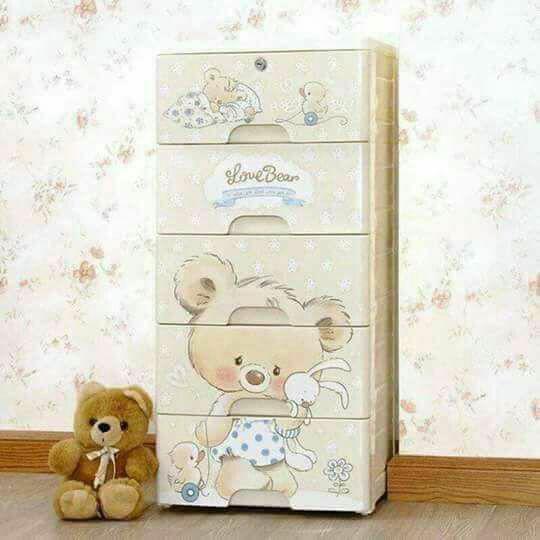 Tủ đựng quần áo hình gấu