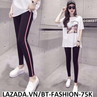Quần Dài Nữ Thun Ôm Legging Thể Thao Thời Trang Hàn Quốc - BT Fashion (QTT-Viền 3M-06) thumbnail