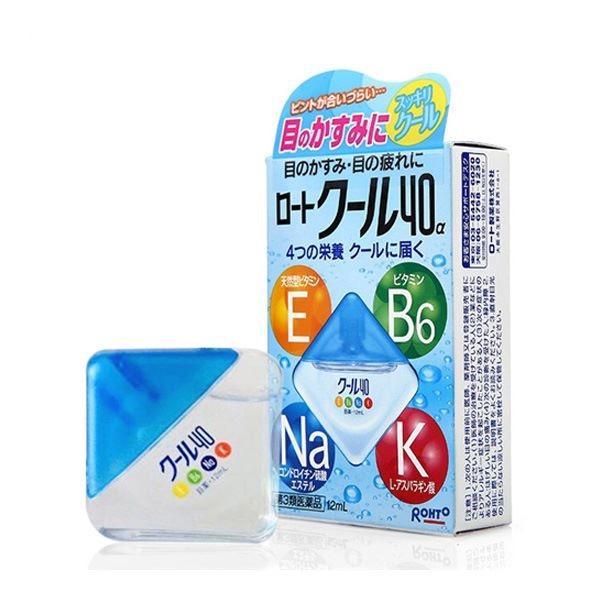 Thuốc nhỏ mắt Rohto Vitamin hộp xanh 12ml - hàng nội địa Nhật