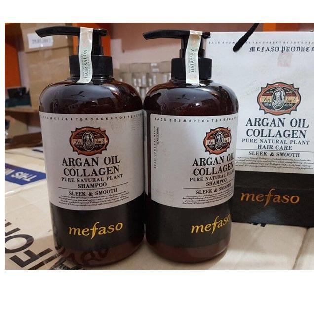 Cặp Dầu Gội Xả Argan Oil Collagen Mefaso 850Gr X 2 Sieu Mềm Mượt Made In Italy Mefaso Chiết Khấu 30