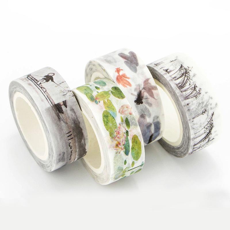 Mua 4pcs/set DIY Vintage Retro Chinese Style Masking Washi Tape Lovely Decorative Tape For Home Decoration - intl