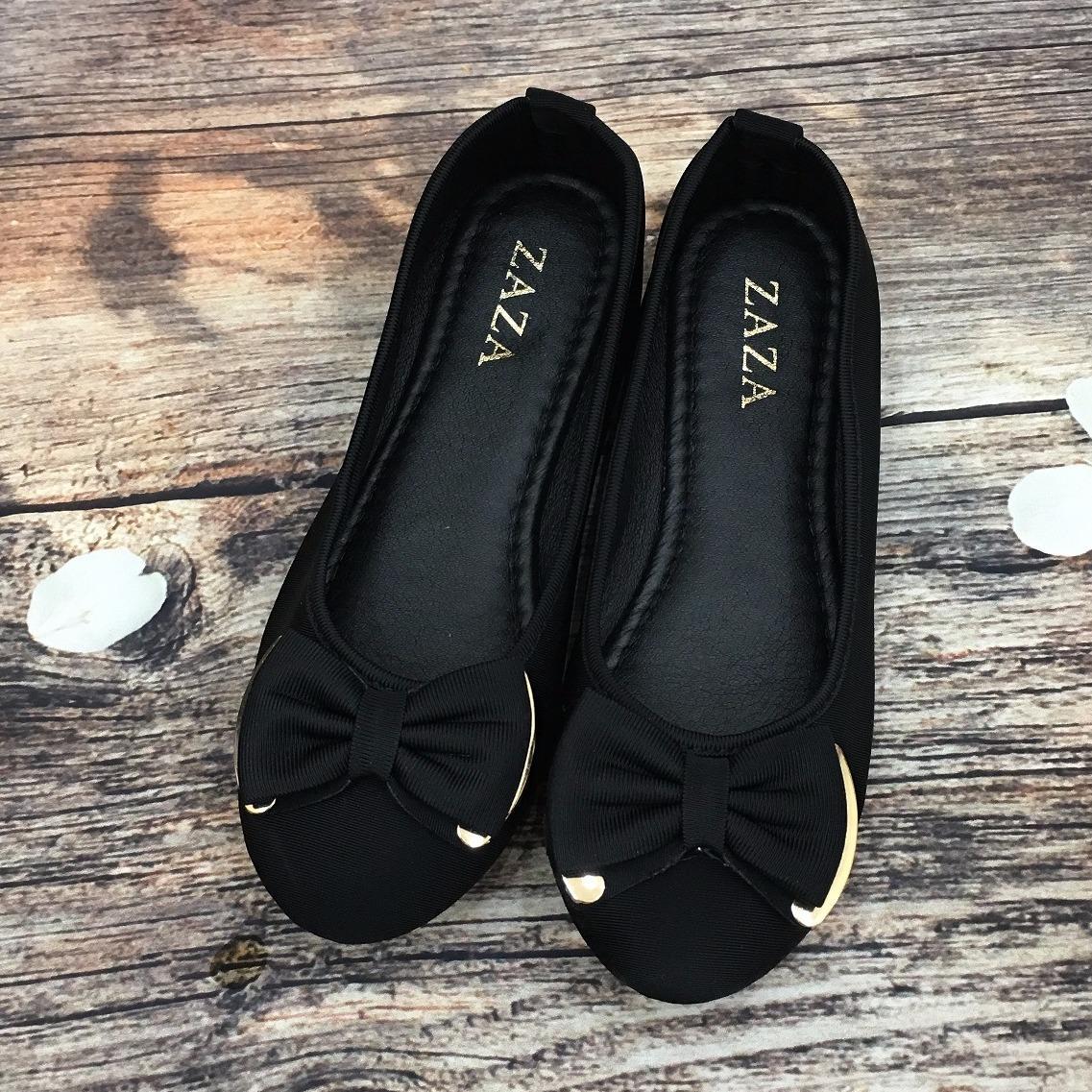 Giày bệt búp bê đính nơ xinh xắn
