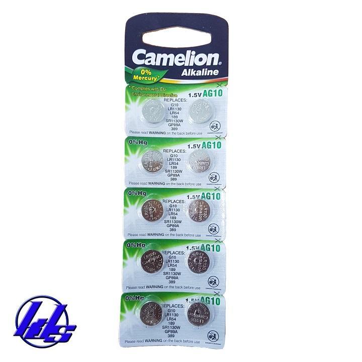 Hình ảnh Pin Camelion AG10 - LR1130 - 189 Plus Alkaline - Vỉ 10 viên