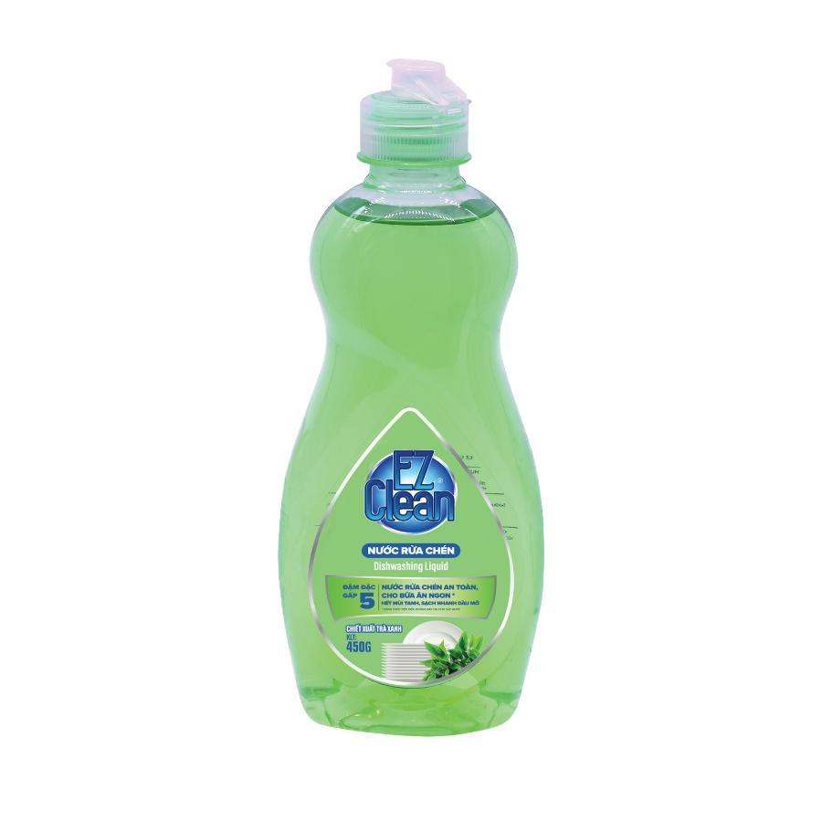 Hình ảnh Nước rửa chén không màu EZ CLEAN 450gr Hương Trà Xanh