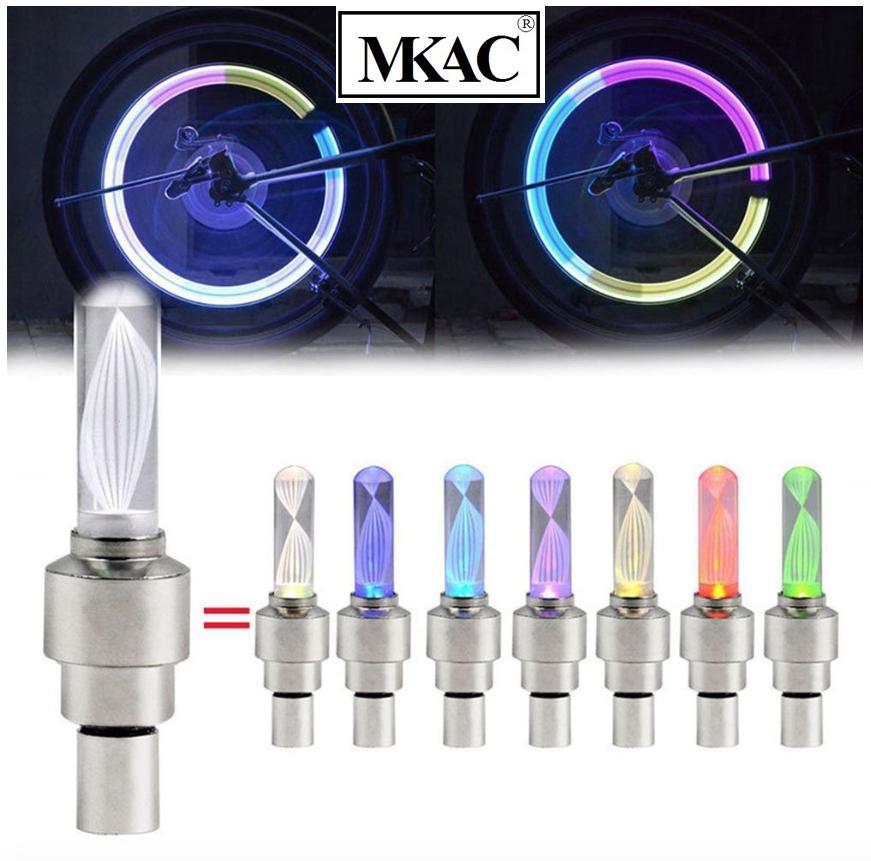 Bộ 2 Nắp van khí bánh xe có đèn LED nhiều màu sắc - LZ MKAC