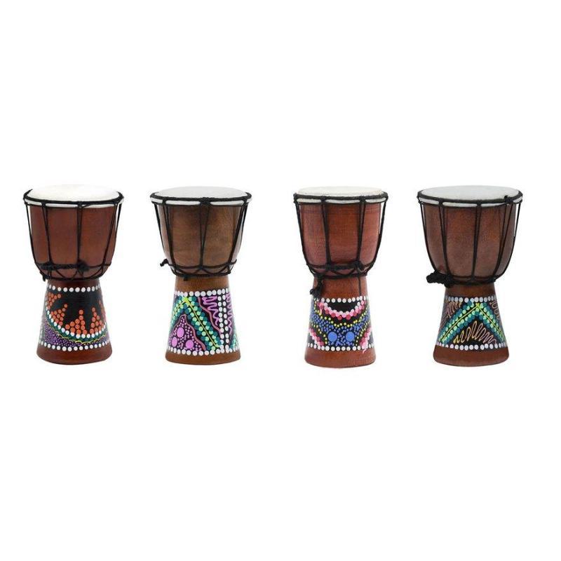 OBBB New 4 inch Multicolor African Hand Drum Tambourine Professional Percussion Instrument