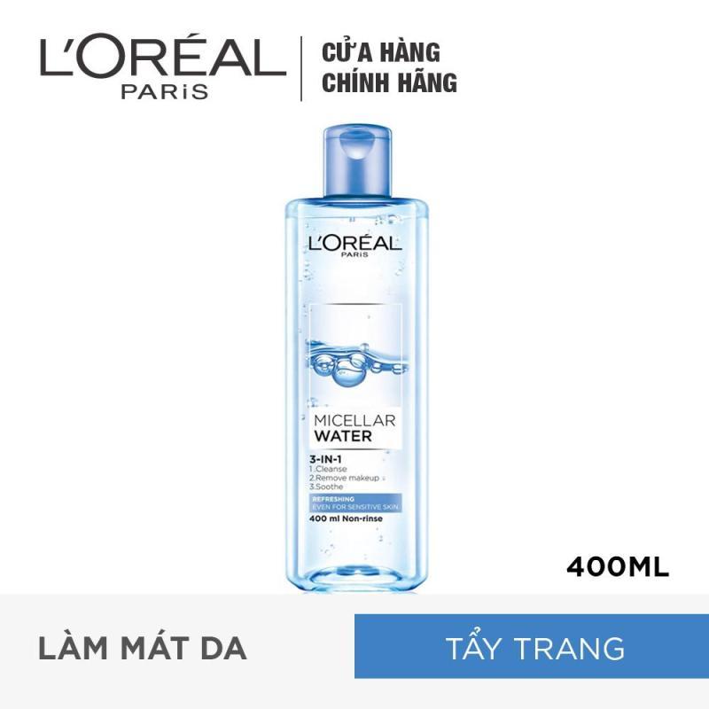 Nước tẩy trang tươi mát LOreal Paris Micellar Water 400ml nhập khẩu