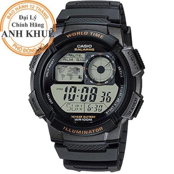 Đồng hồ nam dây nhựa Casio Anh Khuê AE-1000W-1AVDF