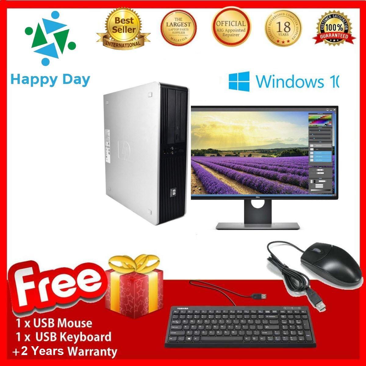 PC dành cho văn phòng HP DC 5800 SFF + LCD Dell 24inch Full HD (CPU Core 2 Quad Q6600- Ram 8GB- HDD 1TB) + Bộ Quà Tặng