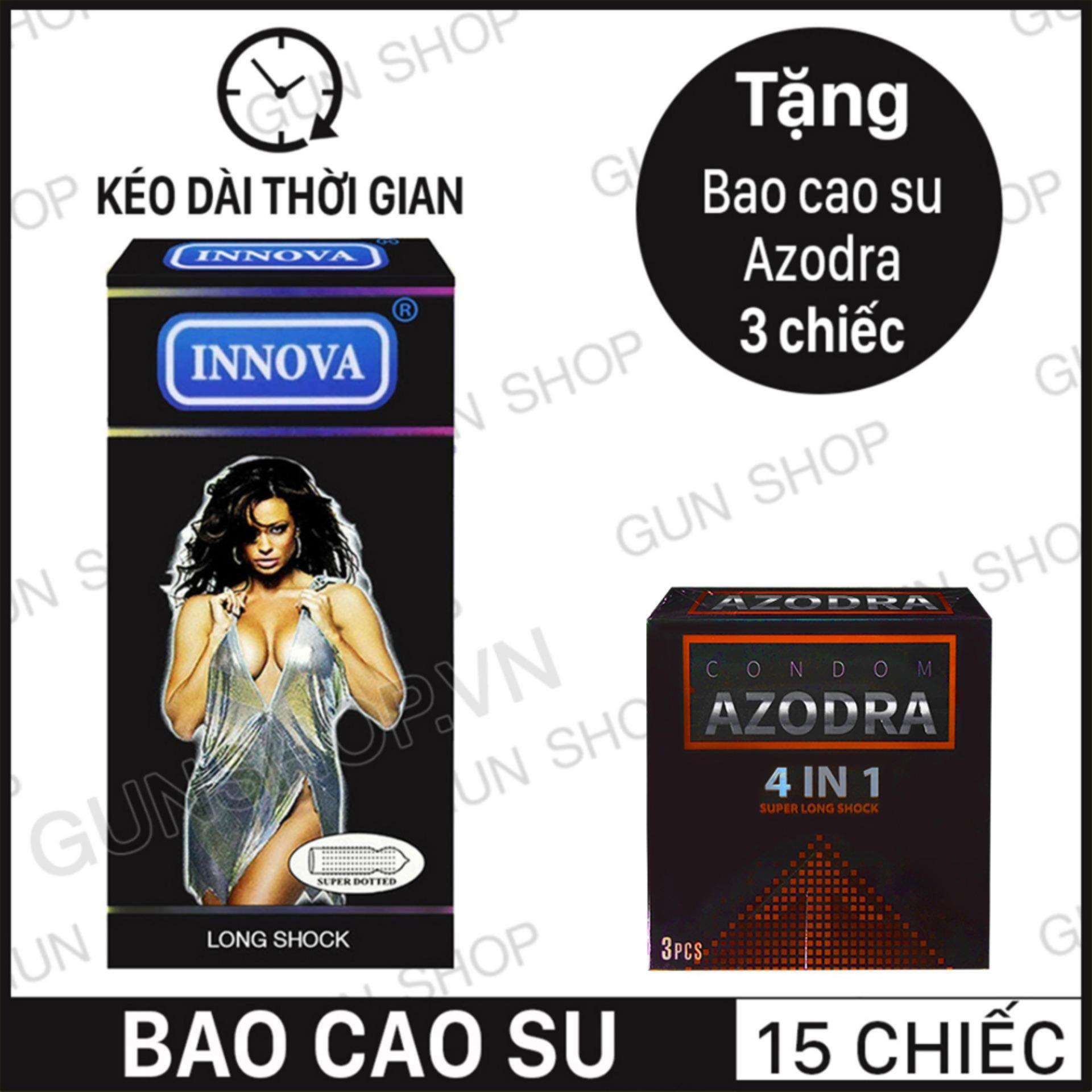 Hình ảnh Bao Cao Su INNOVA Đen (Hộp 12 chiếc) + Tặng 1 Bao Cao Su Azodra (Hộp 3 chiếc) (Malaisia) - [ Gunshop-BCS04 ] (CT01)