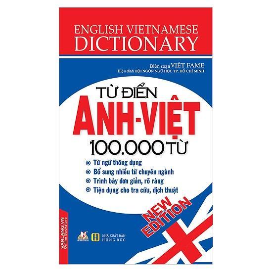 Mua Từ Điển Anh Việt 100.000 Từ
