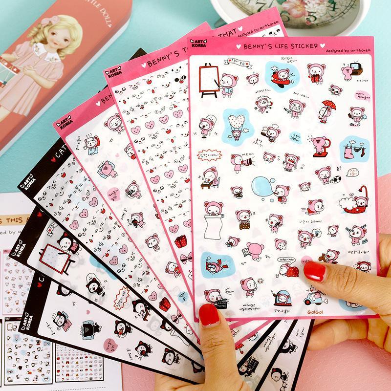 Mua 6 Pcs/Set Bennys Life Transparent Diary Deco Sticker Post It Note Kawaii Stickers Sticky Notes Decoration Label - intl