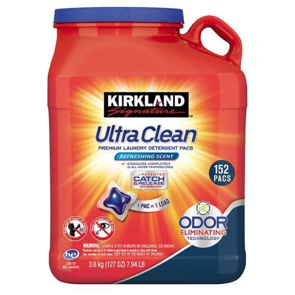 Không Nên Bỏ Lỡ Giá Sốc với VIÊN GIẶT QUẦN ÁO KIRKLAND ULTRA CLEAN 152 VIÊN