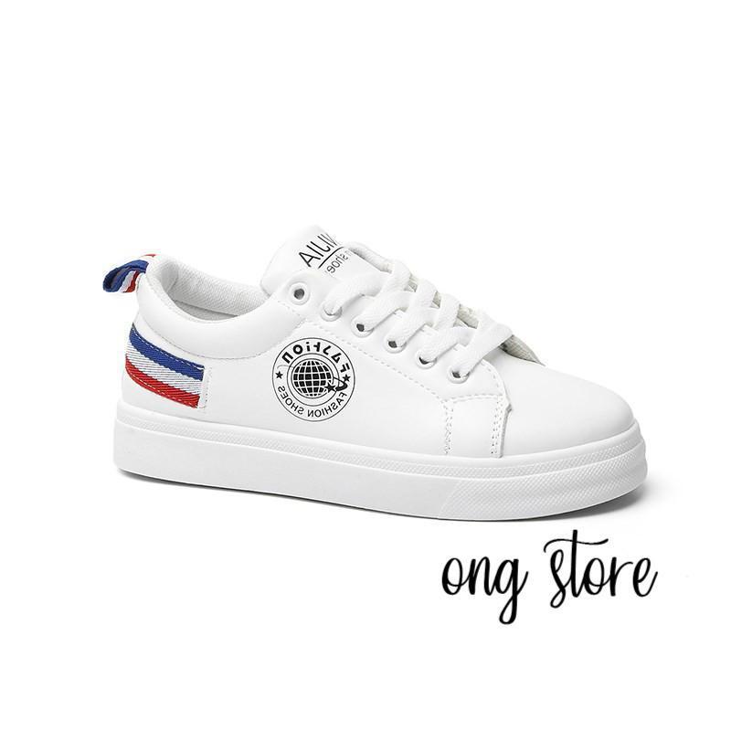 Giày thể thao nữ trắng gót 3 màu
