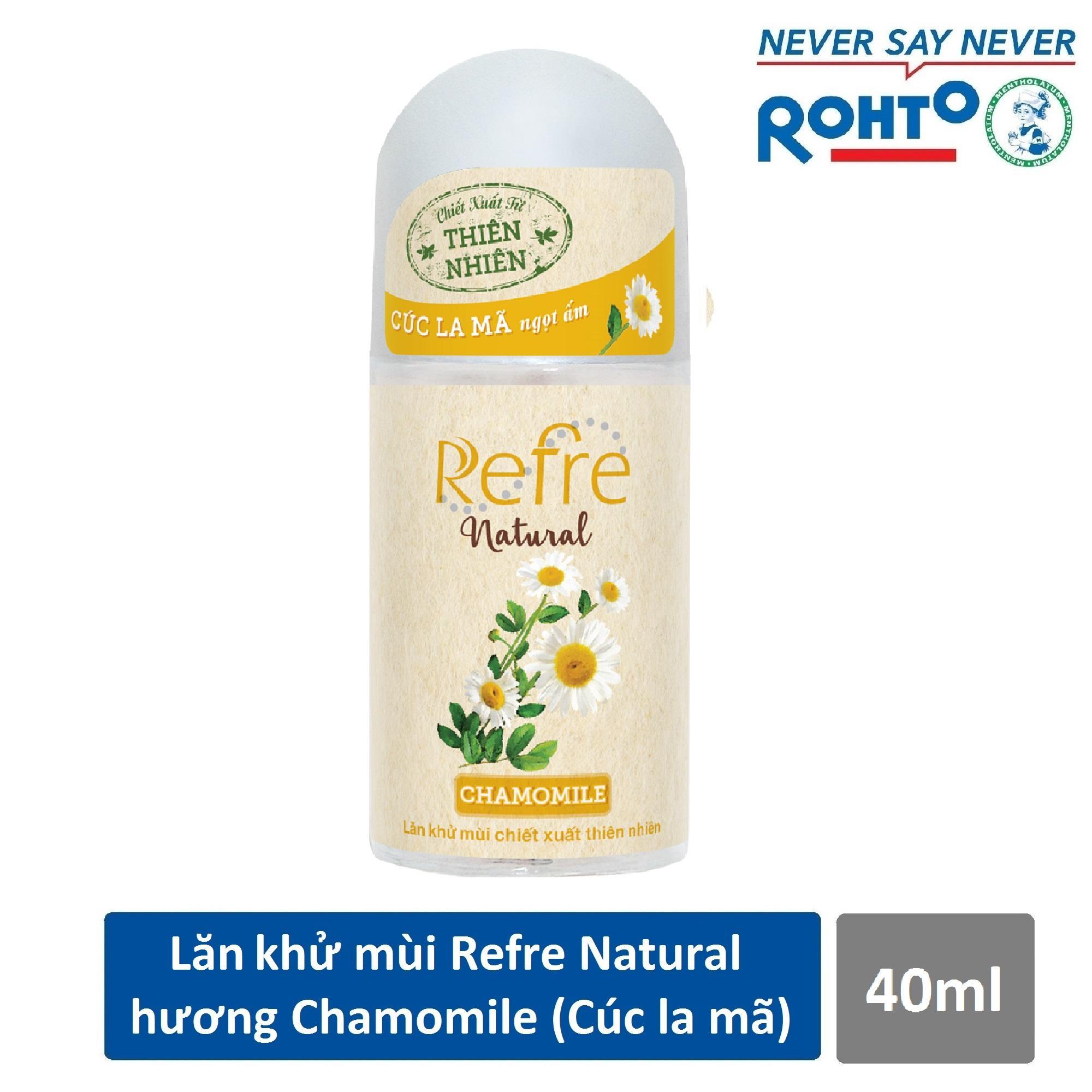 Lăn khử mùi Refre Natural Chamomile Hương Cúc La Mã 40ml chính hãng