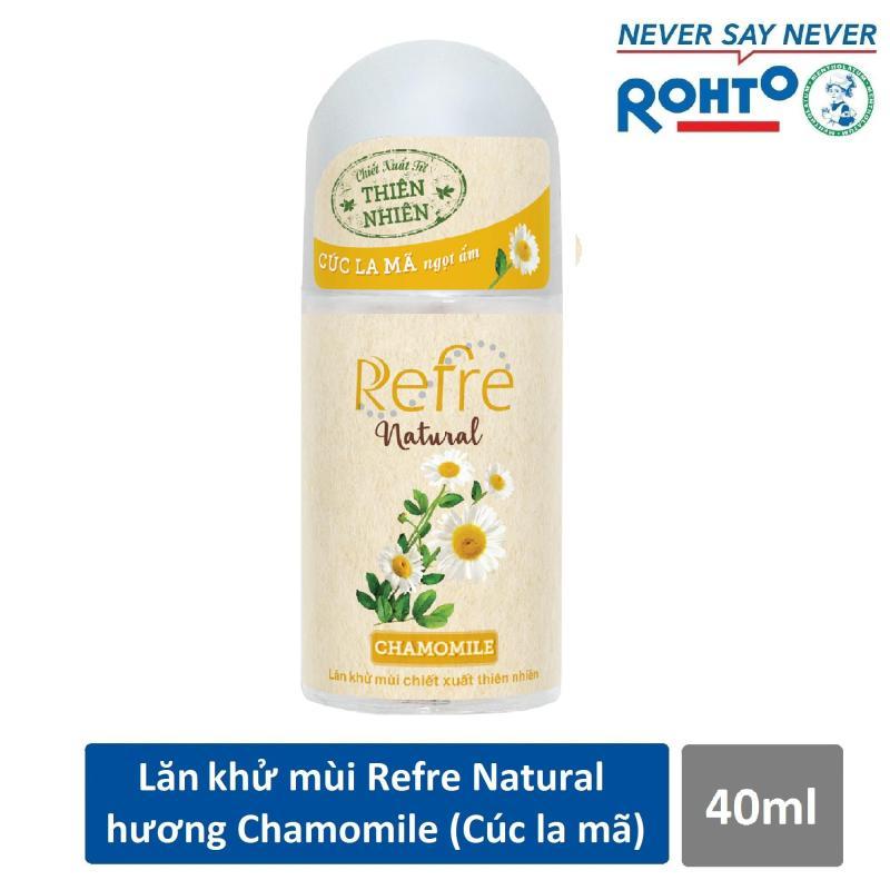 Lăn khử mùi Refre Natural Chamomile Hương Cúc La Mã 40ml