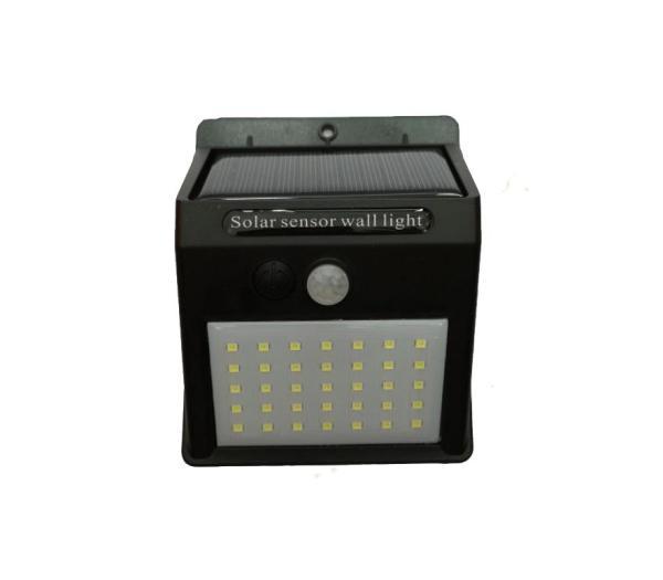 Đèn led năng lượng mặt trời Solar 35 LED siêu sáng 3 chế độ sáng (Đen)