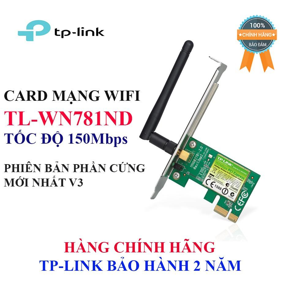 Hình ảnh TL-WN781ND - Card mạng WIFI tốc độ 150Mbps chuẩn N, Bản mới nhất v3, TP-Link bảo hành 2 năm