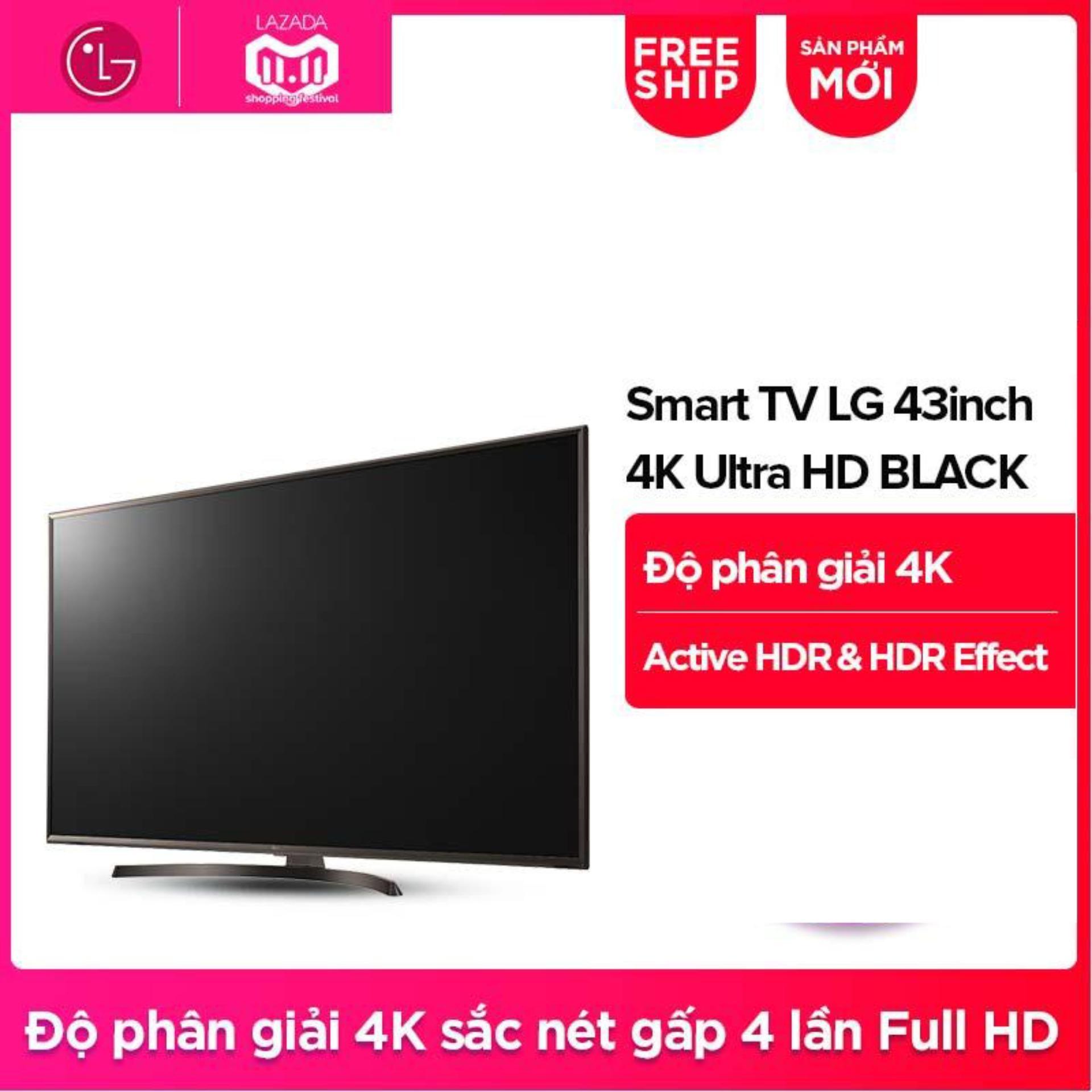 Hình ảnh Smart TV LG 43inch 4K Ultra HD - Model 43UK6340PTF (Đen) - Hãng phân phối chính thức