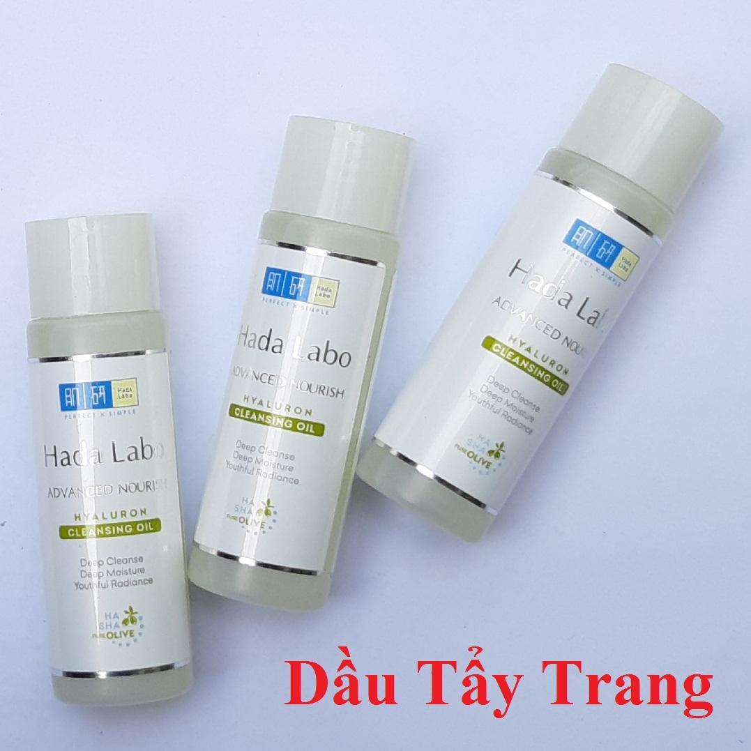 Combo 3 chai Dầu tẩy trang sạch sâu - dưỡng ẩm Hada Labo Advanced Nourish Hyaluron Cleansing Oil 40ml