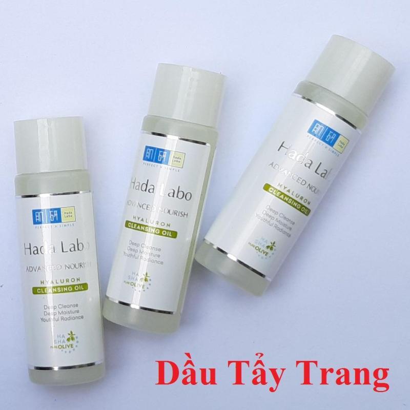 Combo 3 chai Dầu tẩy trang sạch sâu - dưỡng ẩm Hada Labo Advanced Nourish Hyaluron Cleansing Oil 40ml nhập khẩu
