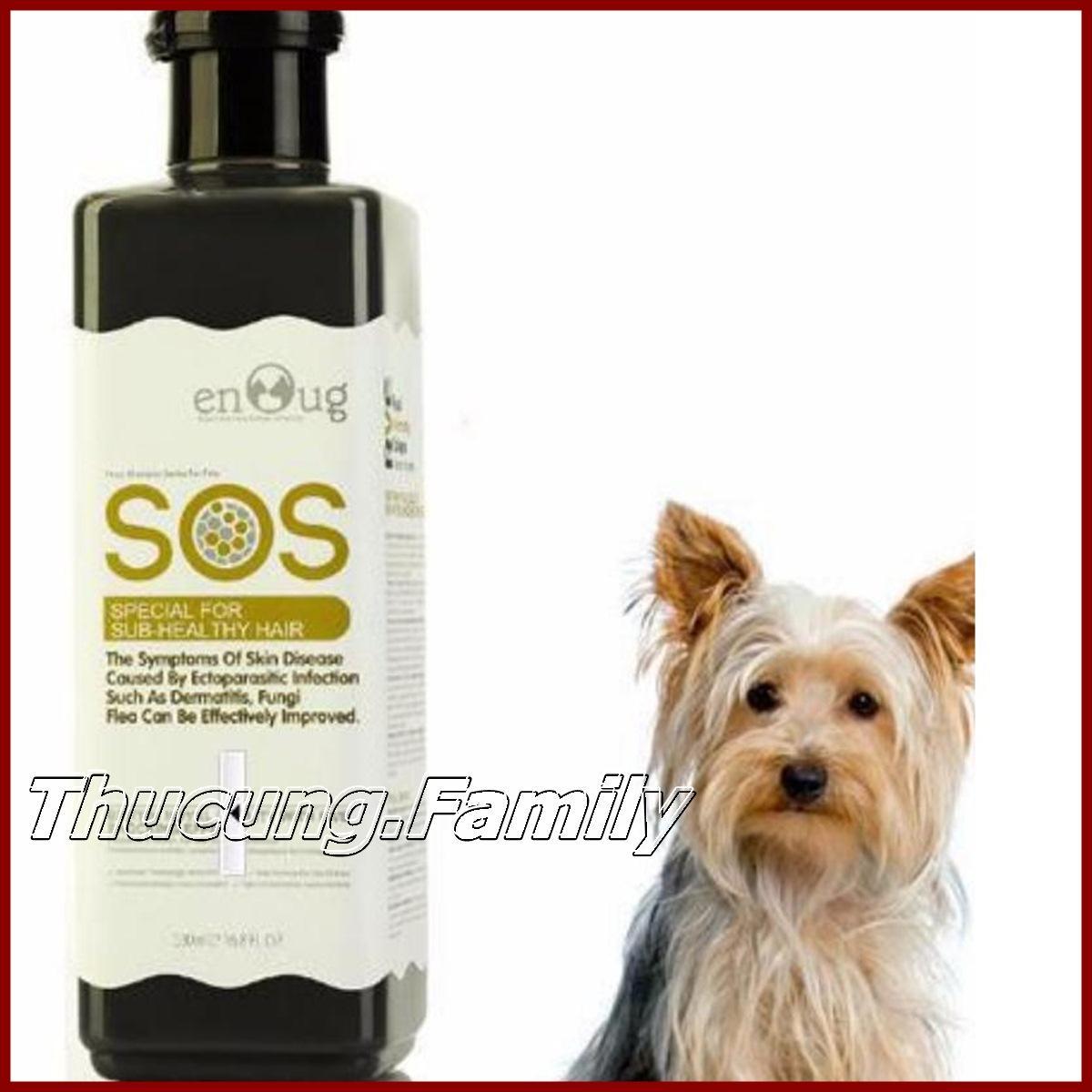 Sữa tắm SOS đặc trị viêm da-nấm da, ve-bọ chét cho CHÓ MÈO. 530ml Nhật Bản