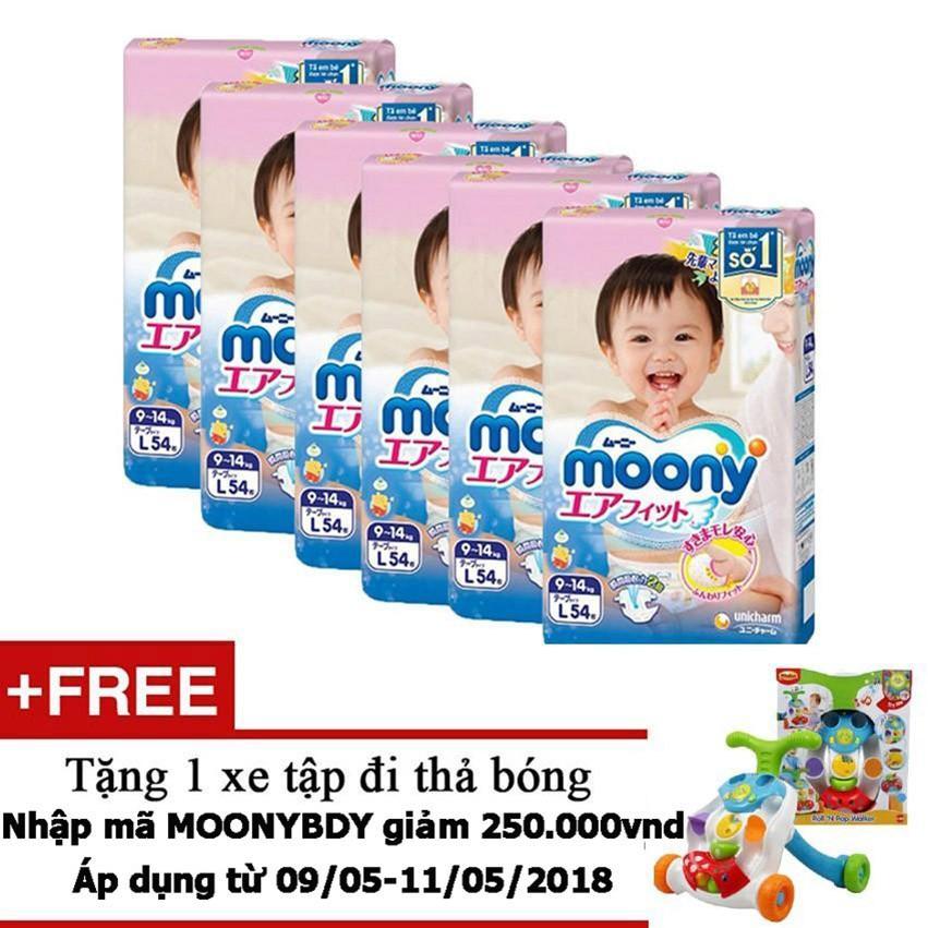 Giá Bán Bộ 6 Ta Giấy Moony Tape L54 Tặng 1 Xe Tập Đi Thả Bong Trị Gia 800 000Vnd Moony Nguyên