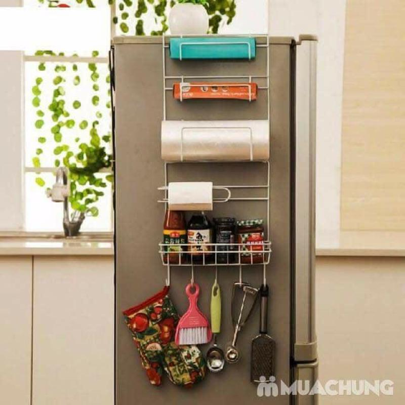 Kệ treo trên  tủ lạnh tiết kiêm diện tích