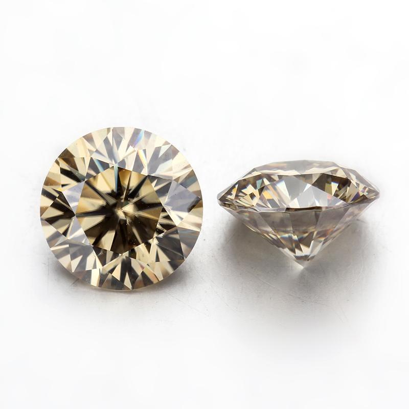 Yellow Moissanite hiệu ứng bút thử kim cương  7ly2