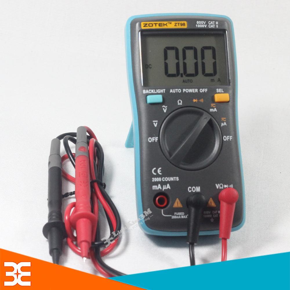 Digital Multimeter DMM Resistance Capacitance Inductance LCR Multi Meter Tester with Backlight -