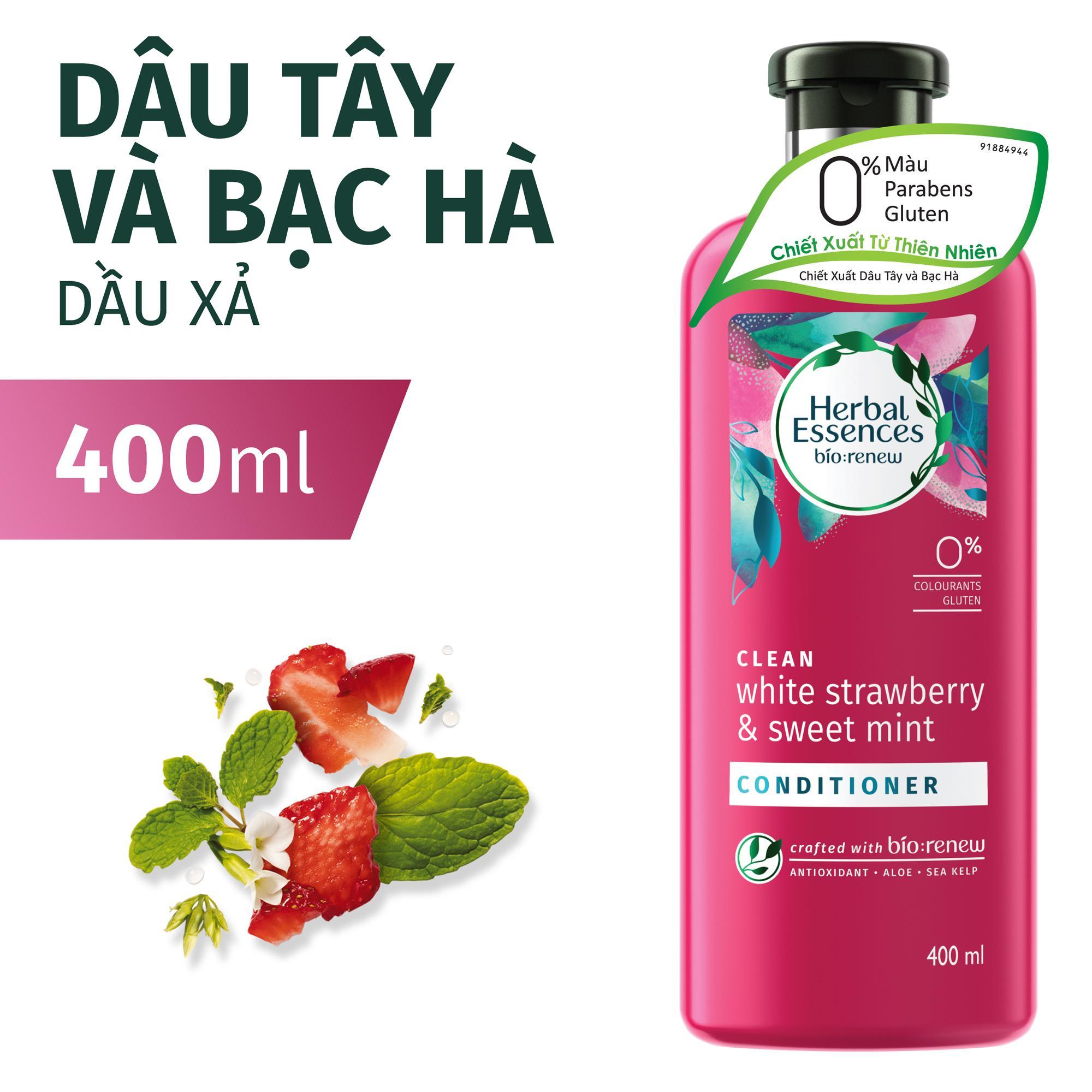 Dầu Xả Herbal Essences Dâu tây & Bạc hà 400ml