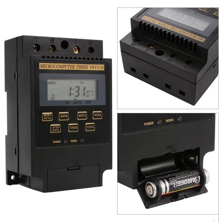 Công tắc hẹn giờ bật tắt tự động KG316 smart sensor màu đen