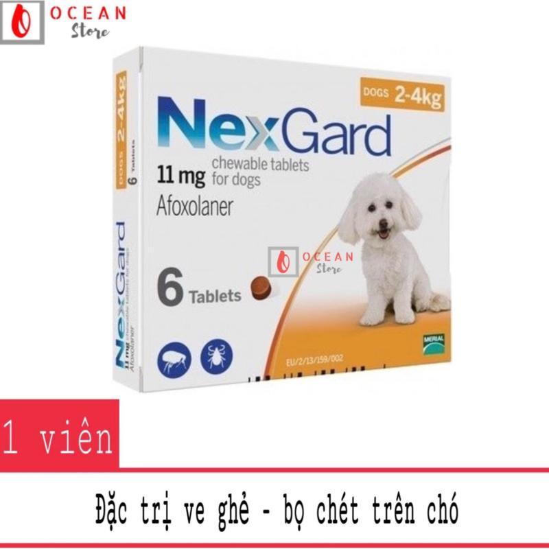 Thuốc diệt ve ghẻ, bọ chét trên chó - 1 viên Nexgard cho chó 2-4kg (1 tablet 2-4kg - No Box)