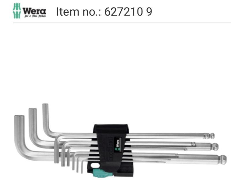 Lục giác Wera 627210 9 (Germany)