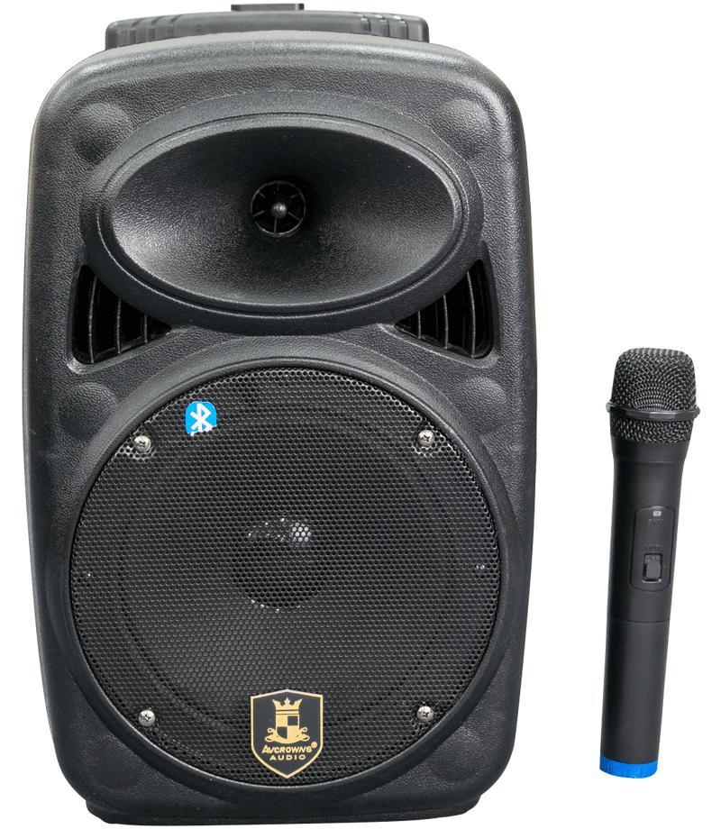 Loa kéo di động karaoke AVCROWNS CH-M08 (Đen) + 1 micro không dây