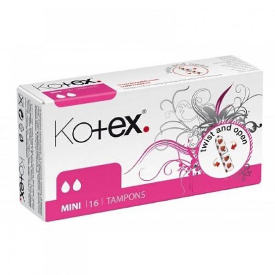 Băng Vệ Sinh TAMPON  Kotex Mini (16 Miếng / hộp) - Nhập Khẩu Từ Czech