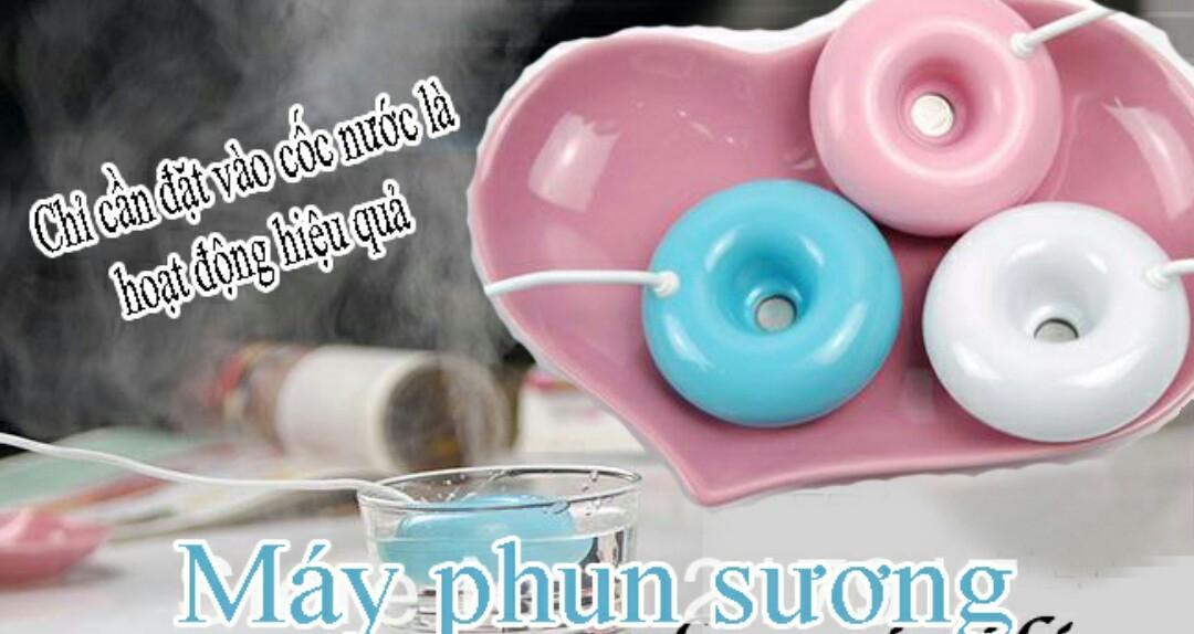 Hình ảnh Máy phun sương tinh dầu tạo ẩm không khí mini USB ngộ nghĩnh(có mầu xanh ,hồng ,trắng)