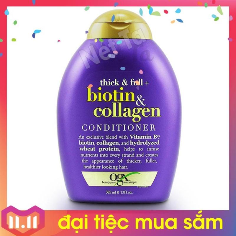 Dầu xả Biotin & Collagen 385ml OGX Beauty - USA làm dày tóc, ngăn rụng tóc, kích thích mọc tóc, phục hồi tóc nhập khẩu