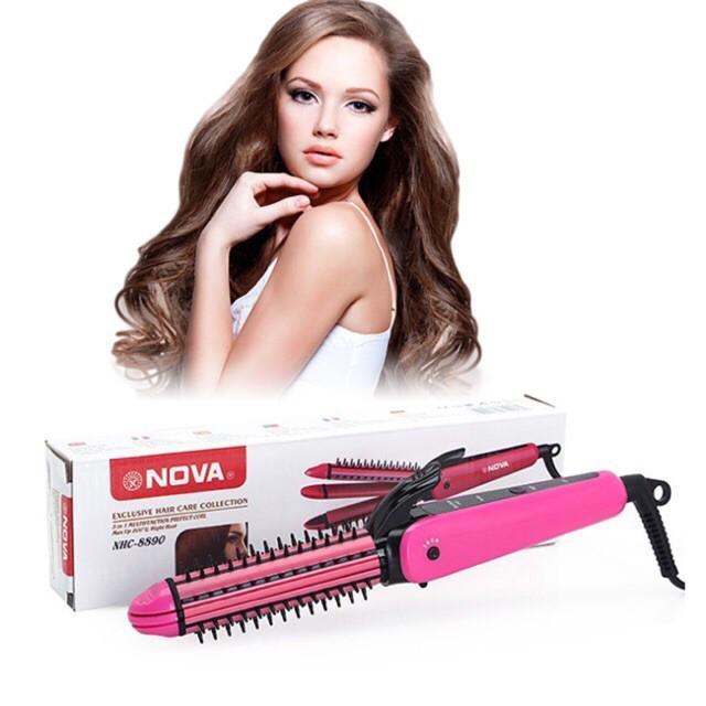 Máy uốn duỗi bấm tóc Nova 8890 nhập khẩu