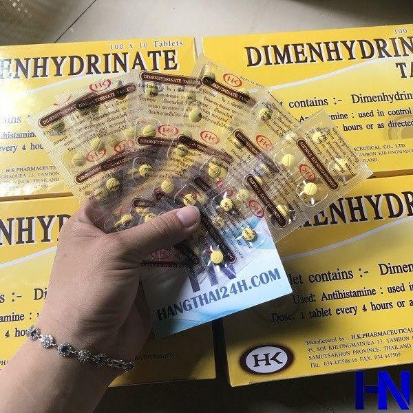 Thuốc chống say xe Thái Lan