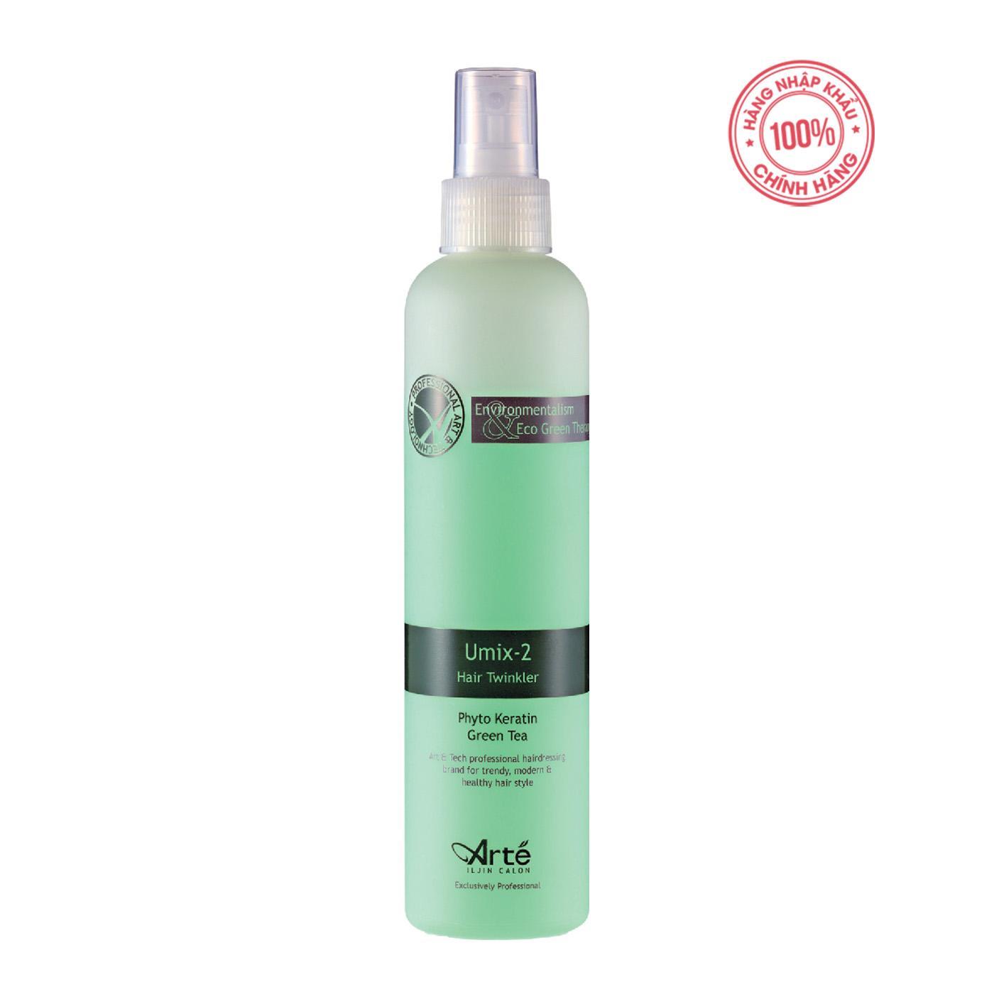 Nước xịt dưỡng tóc Ar té Umix-2 Hair Twinkler 250ml Hàn Quốc