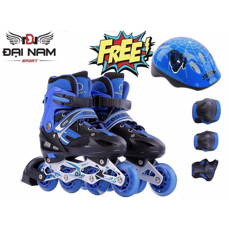 Phân phối Giày trượt patin thể thao trẻ em OS + Tặng bộ bảo hộ (chân,tay,mũ)