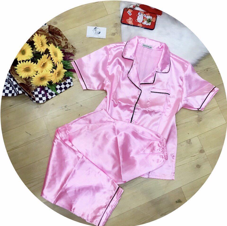 Hình ảnh Bộ pijama viền quần dài trơn cao cấp Đẹp Store 257