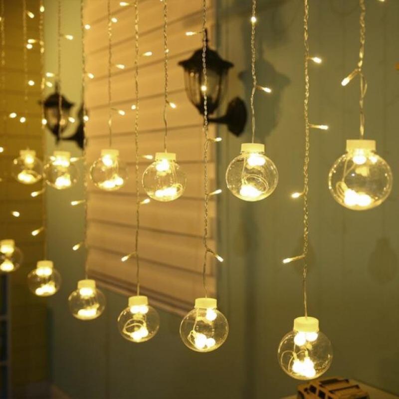 Bộ Đèn LED Mành Cầu Tròn ( Dùng Iện)
