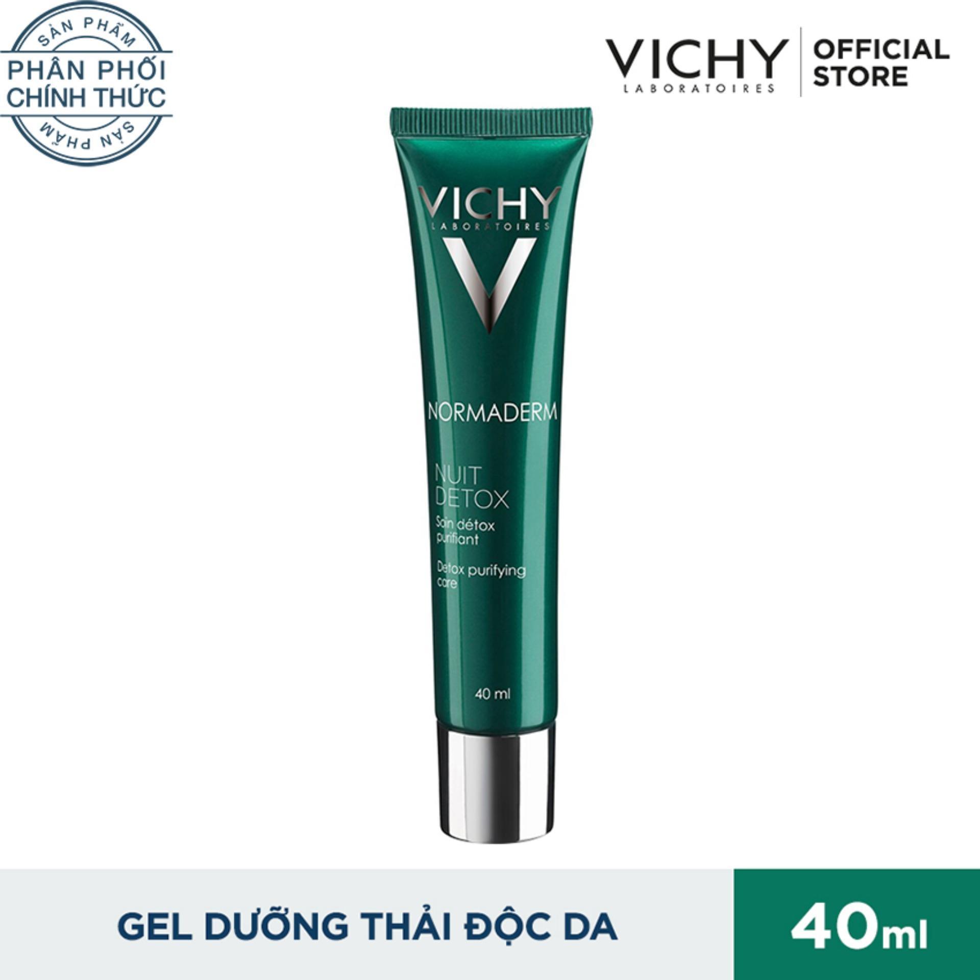 Hình ảnh Gel se khít lỗ chân lông & thanh lọc độc tố ban đêm VICHY Normaderm Night Detox 40ml