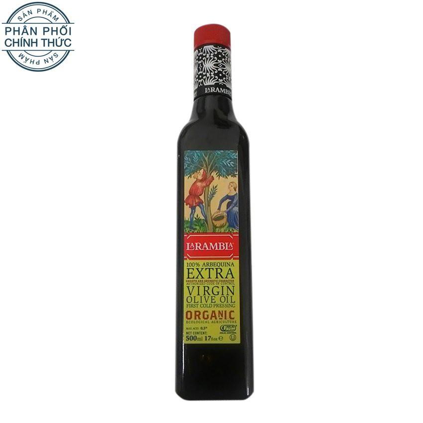 Bán Mua Dầu Olive Milaganics Extra Virgin Arbequina Olive Oil 100 Organic La Rambla 500Ml Mới Vietnam