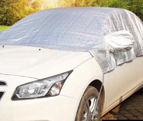 Bạt che nửa chống nắng cách nhiệt 5D tráng bạc size xe 5 chỗ và 7 chỗ - YANME SHOP