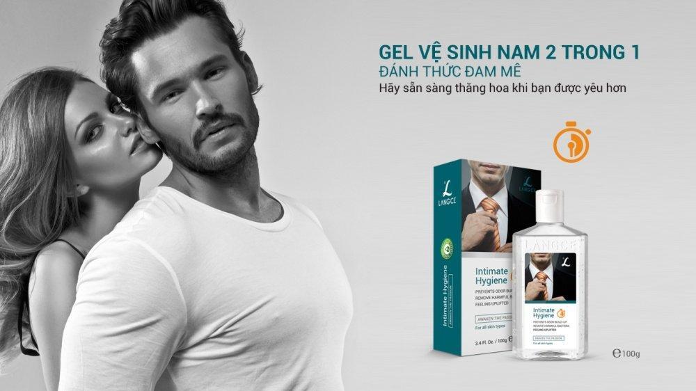 Hình ảnh Gel vệ sinh nam Langce 100g - vệ sinh vùng kín nam giới cho cảm xúc thăng hoa